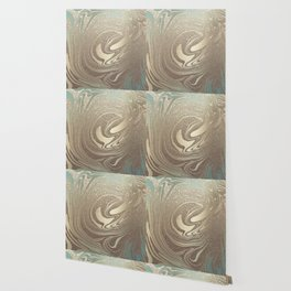 Mermaid Gold Wave Wallpaper