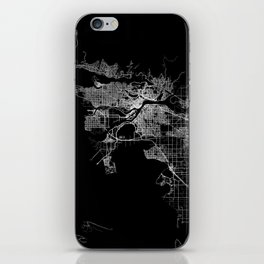 vancouver map canada iPhone Skin