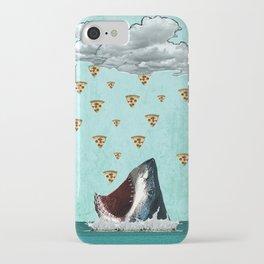 Pizza Shark Print iPhone Case