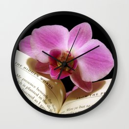 Hidden Words with Orchid Wall Clock