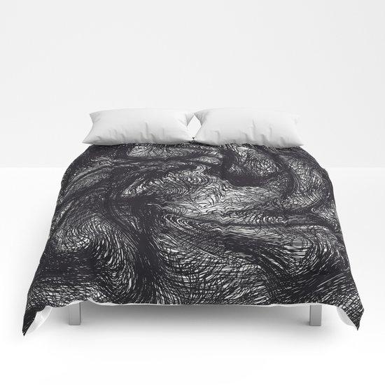 furry swirl Comforters