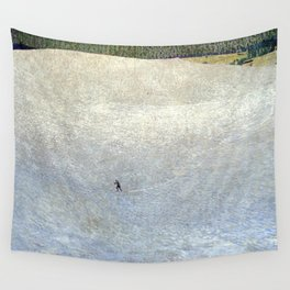 Plight of the Lonely Skier, Snowy Alpine Landscape by Cuno Amiet Wall Tapestry
