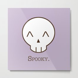 Spooky Skull Kawaii   Halloween Is Coming! Metal Print