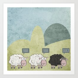 Rebel Sheep Art Print
