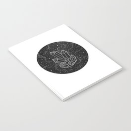 Quartz Crystal Galaxy Notebook