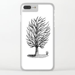 Windswept Tree Clear iPhone Case