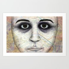 Map Portrait Art Print