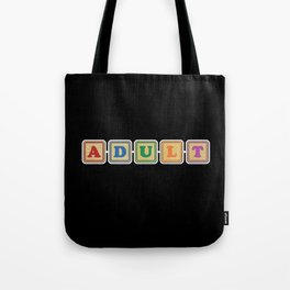 All Grown Up Letter Blocks Tote Bag