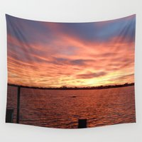 florida Wall Tapestries featuring Florida Sunset by minx267