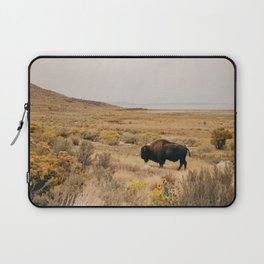 Bison Bull on Antelope Island Laptop Sleeve