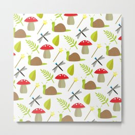 Fairy Garden Pattern 1 Metal Print