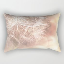 Pink Macro (2) Dandelion Flower - Floral Nature Photography Art and Accessories Rectangular Pillow
