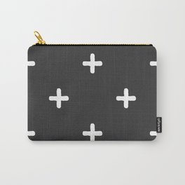 White Crosses on Charcoal Grey Carry-All Pouch