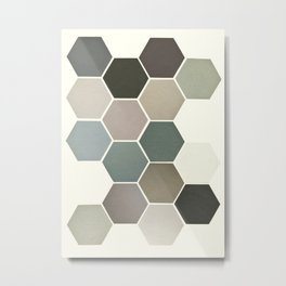 Shades of Grey Metal Print