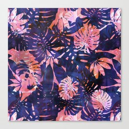Motuu Tropical Pink & Purple Canvas Print