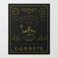 ouija Canvas Prints featuring Ouija Board by LordofMasks