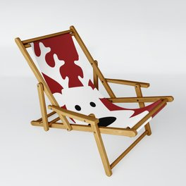 Reindeer on red background Sling Chair