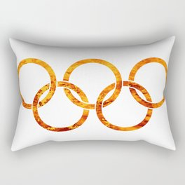 Flaming Olympic Rings Rectangular Pillow