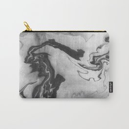 Hiroto - ink japanese marble paper free monoprint pattern marbled cell phone case india ink painting Carry-All Pouch