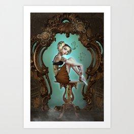 Mechanical love Art Print