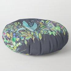 Little Garden Birds in Watercolor Floor Pillow