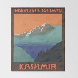 Vintage poster - Kashmir Throw Blanket
