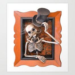 Rucus Studio Gentleman Skeleton Art Print