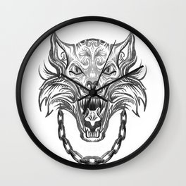 Norse Wolf Monster Fenrir Wall Clock