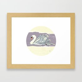 Swan n°I Framed Art Print