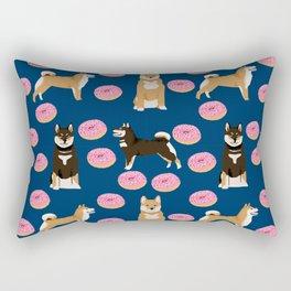 Shiba Inu donuts food cute dog art sweet treat dogs pet portrait pattern Rectangular Pillow