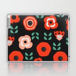 Midnight floral decor Laptop & iPad Skin