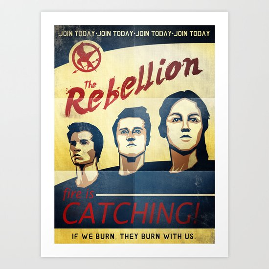 The Rebellion - Propaganda Art Print