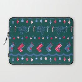 Christmas Decor - Green Laptop Sleeve