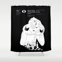 Sochi 2014 World Chess Championship Match Shower Curtain