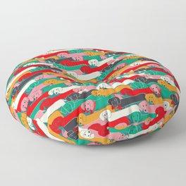 dachshund pattern- happy dogs Floor Pillow