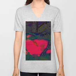 With All my Heart Remix Unisex V-Neck
