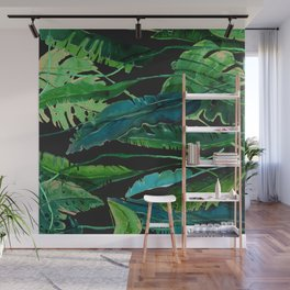 Horizontal Leaves Wall Mural