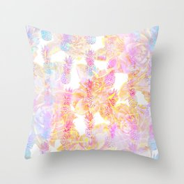 Abstract Pastel Pineapple Throw Pillow
