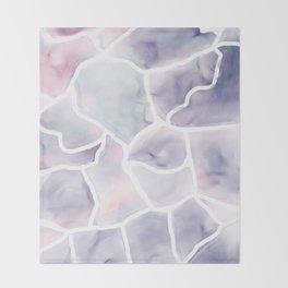 Watercolor stone texture Throw Blanket