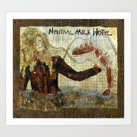 neutral milk hotel Art Prints featuring Neutral Milk Hotel by CHAR ODEN