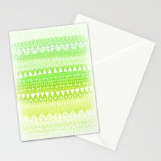 Triangle Gradient Lime Mix Stationery Cards