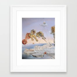 """""""Ghost with Tigers"""" / Salvador Dali Framed Art Print"""