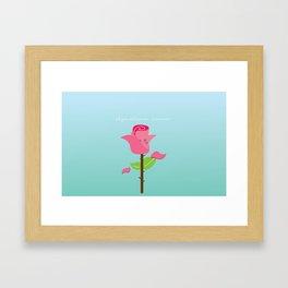 Will you still love me tomorrow Framed Art Print