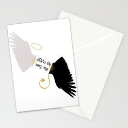We're On Our Side - Good Omens Fanart Stationery Cards