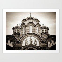 Monastery Katholikon in Greece Art Print