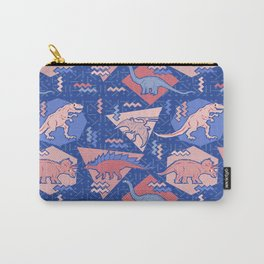Nineties Dinosaurs Pattern  - Rose Quartz and Serenity version Carry-All Pouch