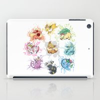 eevee iPad Cases featuring Eeveelutions by Leonie X. Li