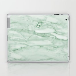 Light Jade Marble Laptop & iPad Skin