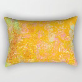 Delight, Marbled Abstract Art Painting Rectangular Pillow