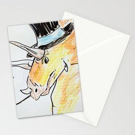 Triceratops in a top hat Stationery Cards
